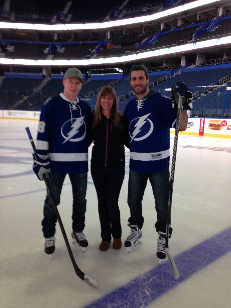 Ondrej Palat, me and Mark Barberio.