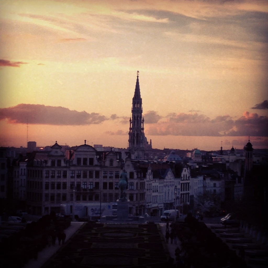 sunset over Brussels