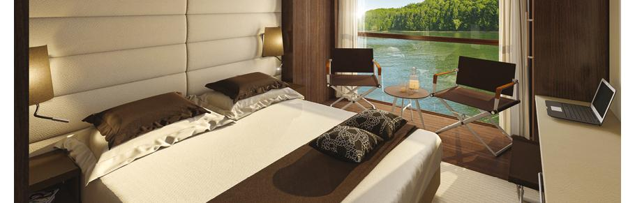 Emerald Waterways' cabin. Courtesy of Emerald Waterways.