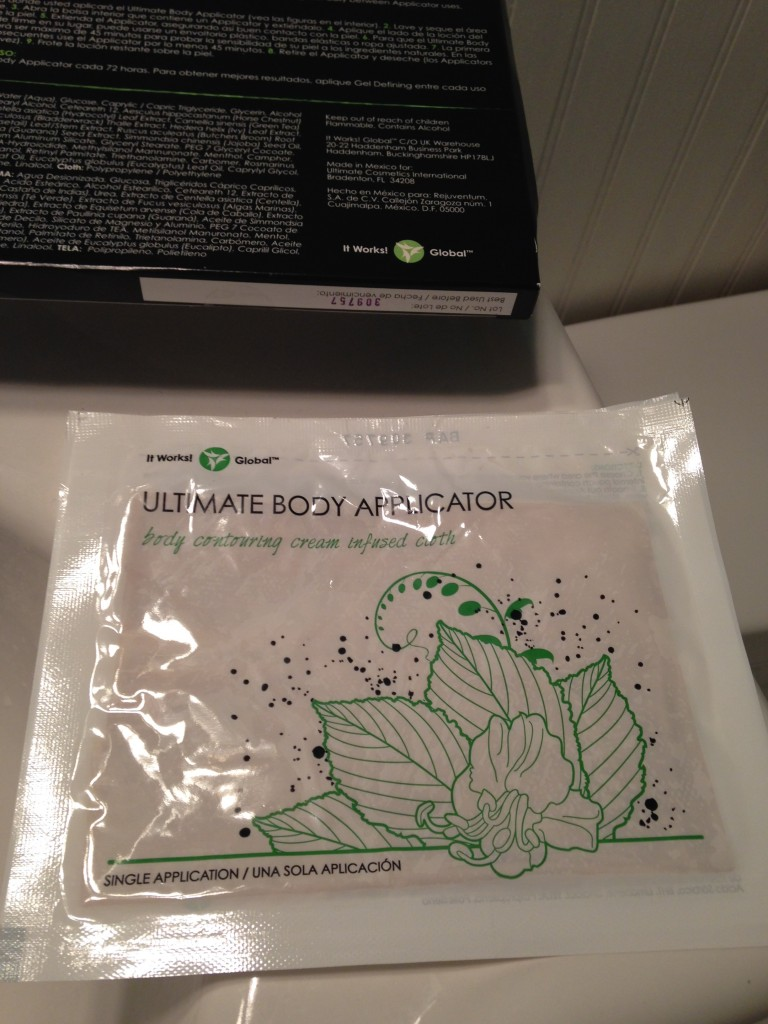 The  It Works! Wrap inside its pouch