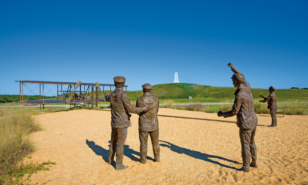 The Wright Brothers Memorial in the Outer Banks. (photo courtesy of Outerbanks.org)