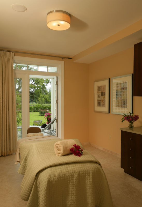 A treatment room at Indaba - The Spa at Innisbrook. Let the relaxation begin! (Photo Credit: Earl Kogler)