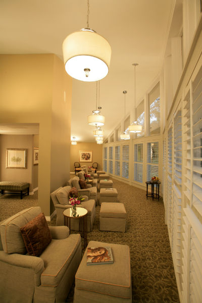 The ladies' lounge at Indaba - The Spa at Innisbrook. Time to take a load off! (Photo Credit: Earl Kogler)