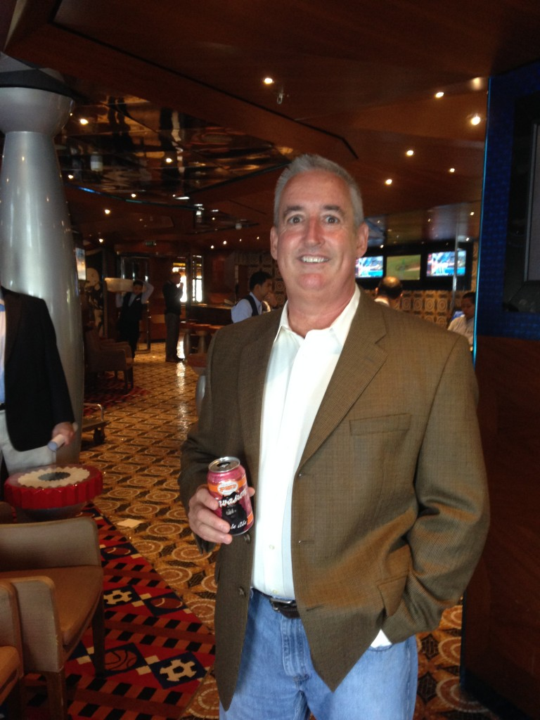 Joe Burns, national sales manager for Cigar City Brewing, was instrumental in developing the partnership.