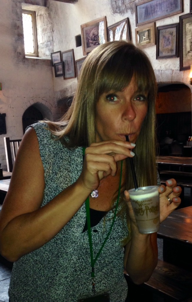 My first sip of Butter Beer - wow, is that sweet!