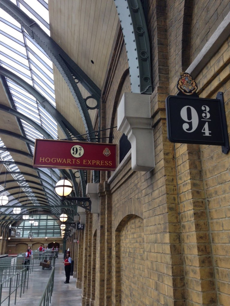 You've arrived at Platform 9 3/4 inside London's King's Cross Station!