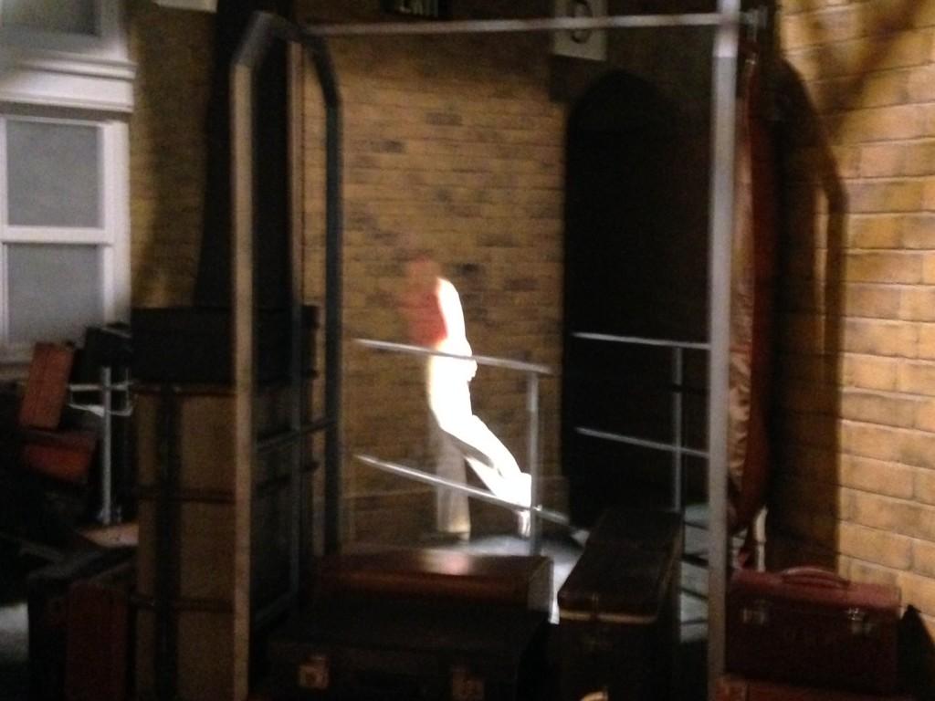 Walking through walls, aka Harry.