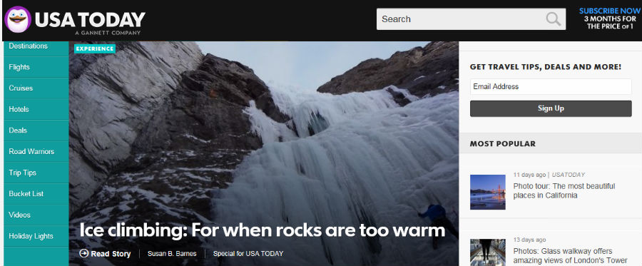 Ice climbing: For when rocks are too warm