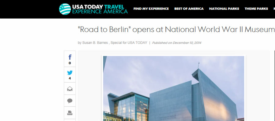 """Road to Berlin"" opens at National World War II Museum"